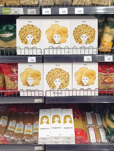 Pasta Packaging that Looks Like Woman's Hair - THE BIG AD