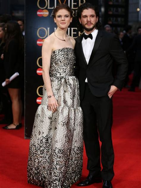 'Game of Thrones' Kit Harington and Rose Leslie make their
