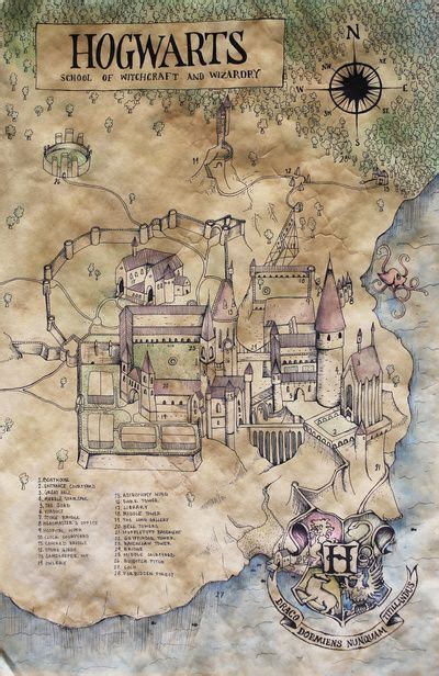 Hogwarts map from the wonderful wizard world of Harry