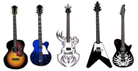 Guitar free vector pack - Different shape free vector