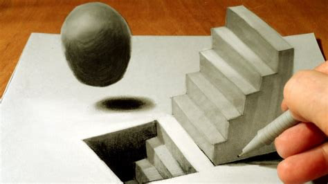 Drawing 3D Staircase, Time Lapse - YouTube