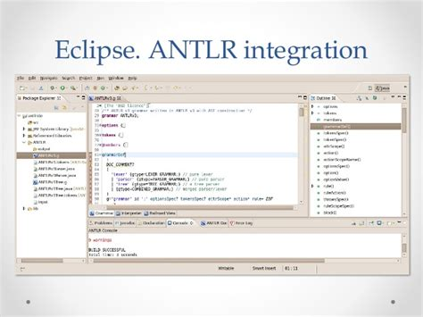 """Using ANTLR on real example - convert """"string combined"""