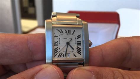 My Cartier Tank Francaise automatic gents model W51002Q3