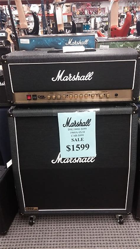 Marshall DSL 100H W/ 1960A 4x12 Cabinet package deal OPEN
