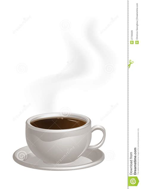 Steaming Coffee Cup On Saucer Royalty Free Stock Images