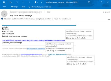 Links in phishing-like emails lead to tech support scam