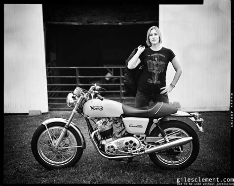 Black and white by Giles Clement   Inazuma café racer