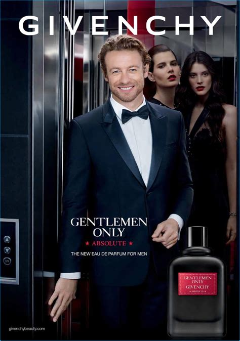 Simon Baker Givenchy Gentleman Only Absolute Fragrance