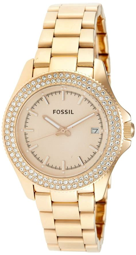 women's watches: Gold watches for women Fossil Retro