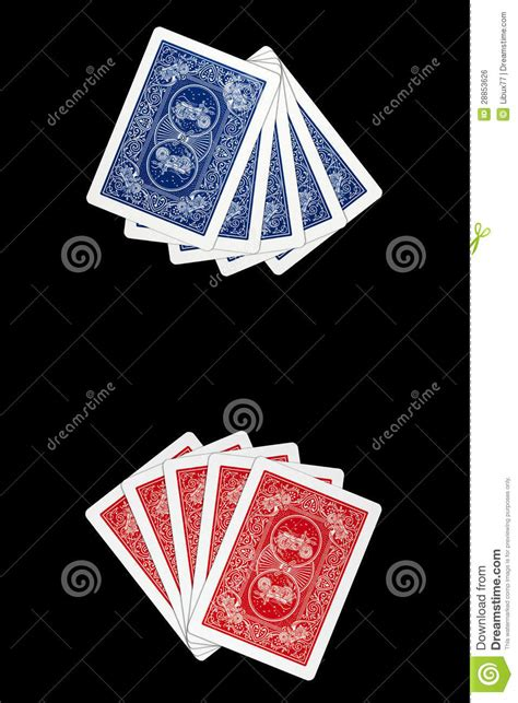 Playing Cards - Face Down Cards Royalty Free Stock Image