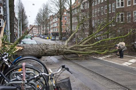 'Code red' storm lashes Holland as winds of up to 90mph