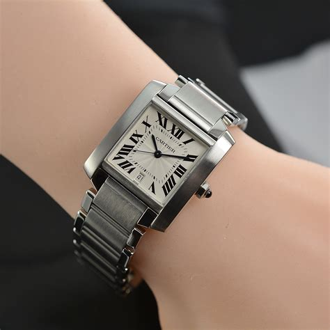 Cartier Tank Francaise Watch Large Size Stainless Steel