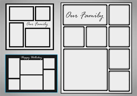 Photo Collage Template Vector set - Download Free Vectors