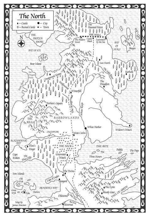 A Clash of Kings-Map of the North - A Wiki of Ice and Fire