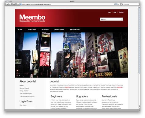 Meembo-Red - Free Template for Joomla 3