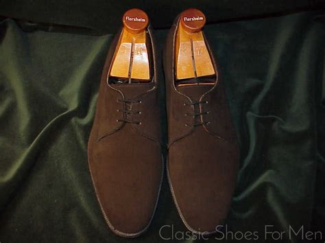 *CHURCH's CHEANEY, Suede 3-Eyelet Derby (Blucher), Circa