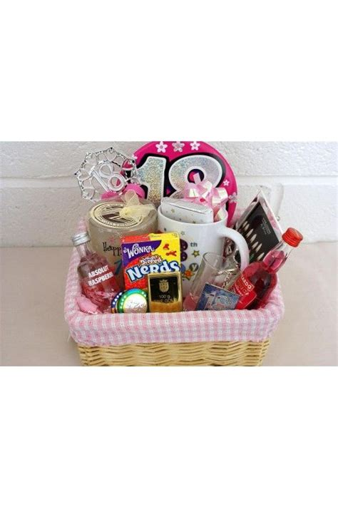 Personalised 18th Birthday Girls Alcohol Gift Basket