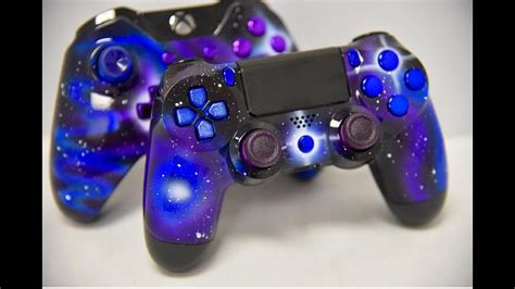 GALAXY THEMED XBOX ONE + PS4 CONTROLLERS - YouTube