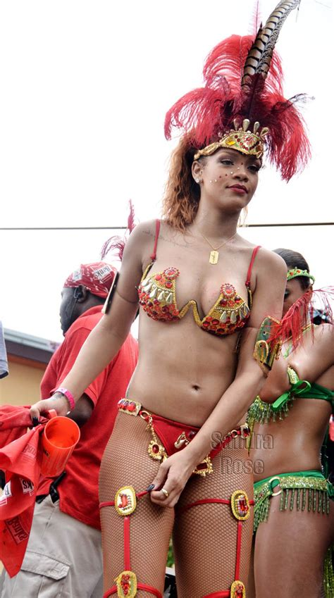 Rihanna is pictured during Barbados' Kadoomant Day Parade