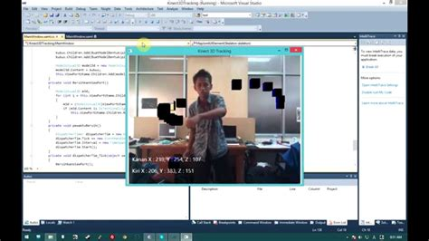 Kinect Hand 3D Tracking with WPF Viewport3D - YouTube