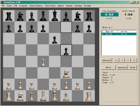 Slow Chess Blitz, a free chess program