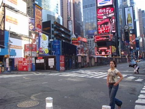 Times Square on a Sunday Morning   Famous Ankles