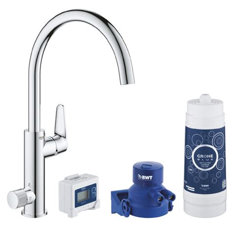 Grohe, BLUE Pure Baucurve Duo, C-Spout Water Filter Tap
